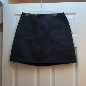Suede Old Navy Dark Gray Skirt